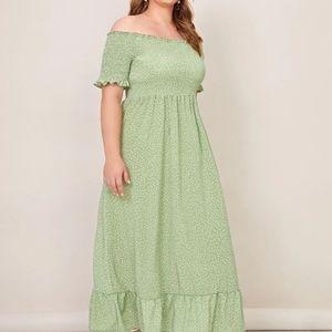NWOT Shein polka dot maxi dress